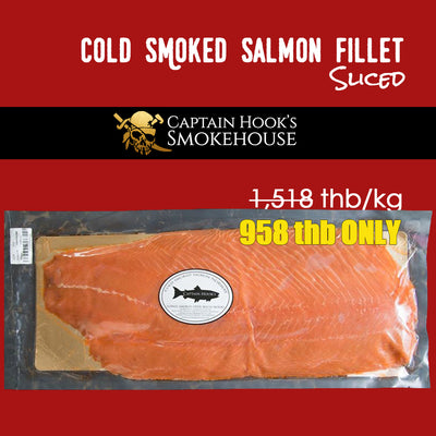 Promotion - Cold Smoked Atlantic Salmon Fillet - Sliced
