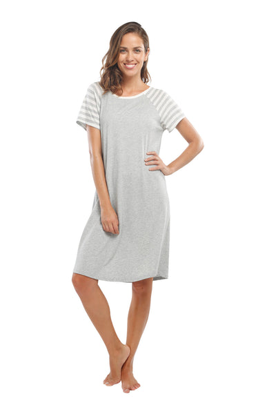 The Striped Cabana Short Nightgown
