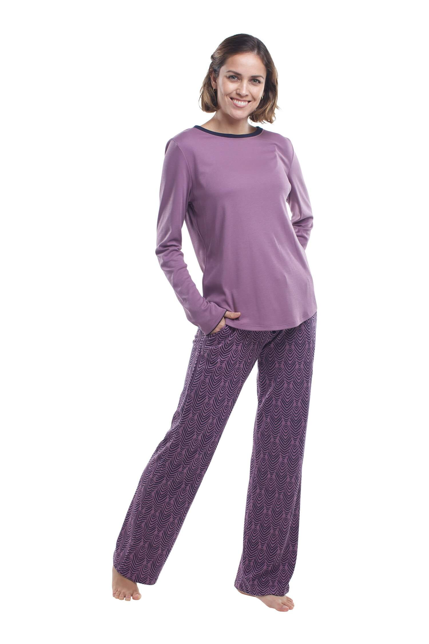 The Long-Sleeve Set in Plum