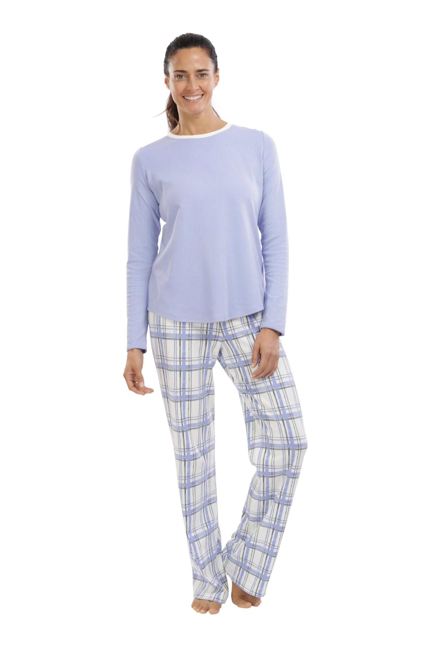 The Periwinkle Bloom in Plaid (Small/Tall Only))