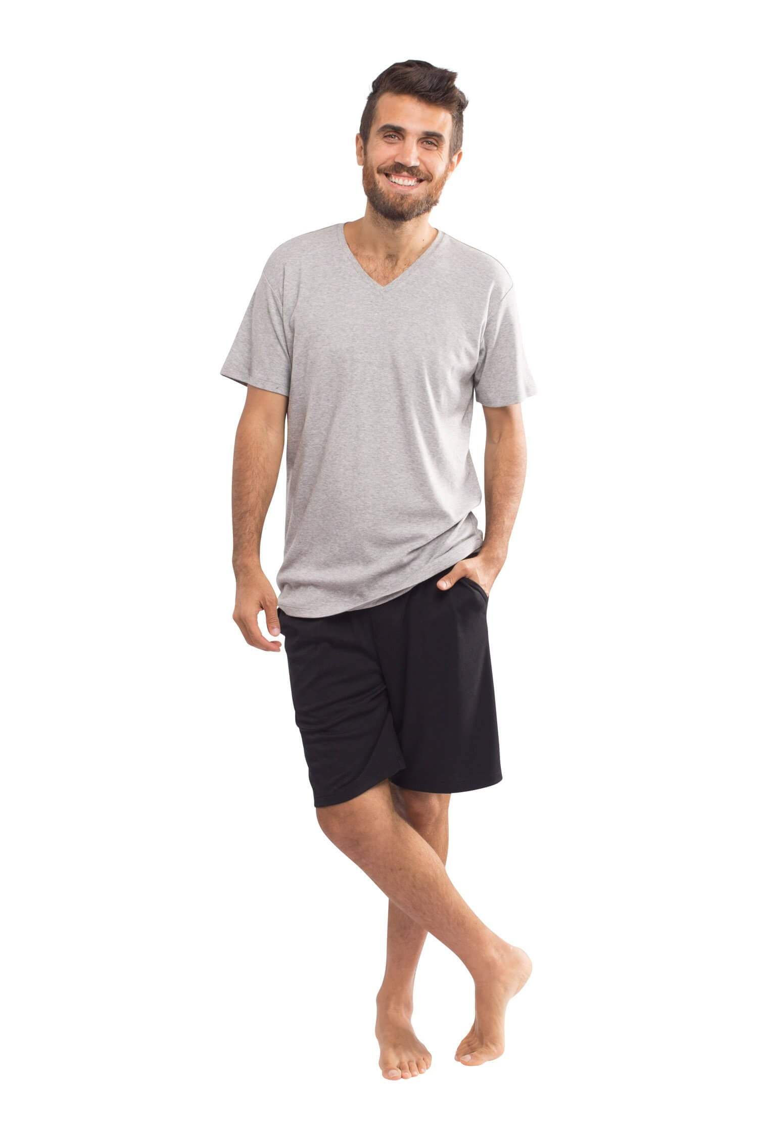 The Men's Weekender Shorts in Black & Heather Grey