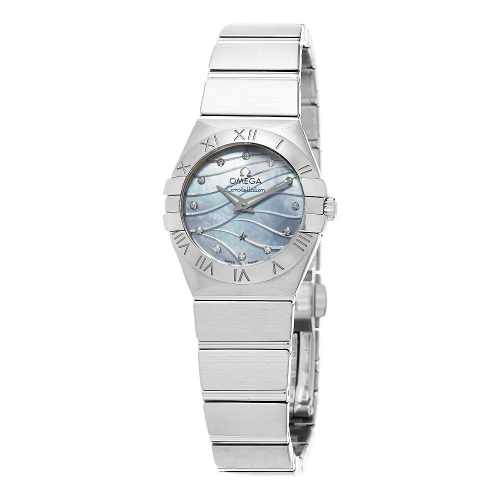 Omega Women's Constellation Blue Mother of Pearl Diamond Dial Watch