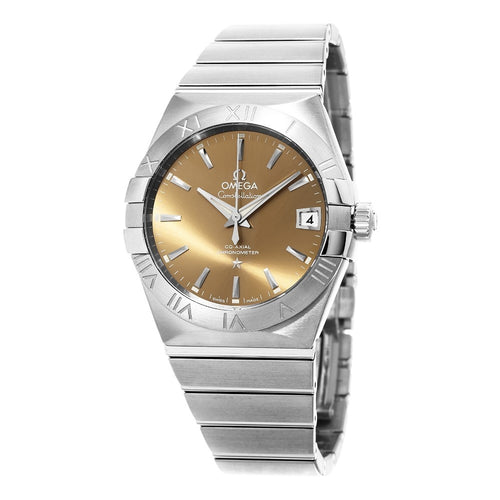 Omega Men's Constellation Brown Dial Swiss Automatic Watch