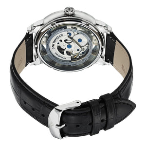 Stuhrling Winchester 44 Automatic Silver Tone Dial Leather Strap Men's Watch