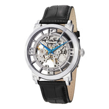 Load image into Gallery viewer, Stuhrling Winchester 44 Automatic Silver Tone Dial Leather Strap Men's Watch