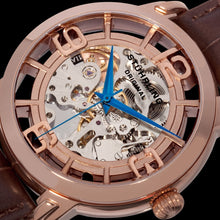 Load image into Gallery viewer, Stuhrling Winchester 44 Automatic Rose Tone Dial Leather Strap Men's Watch