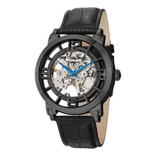Load image into Gallery viewer, Stuhrling Winchester 44 Automatic Black Dial Leather Strap Men's Watch