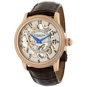Stuhrling Brumalia Mechanical Rose Stainless Steel Men's Watch