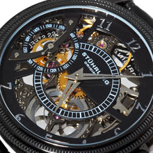 Load image into Gallery viewer, Stuhrling Brumalia Mechanical Black Stainless Steel Men's Watch