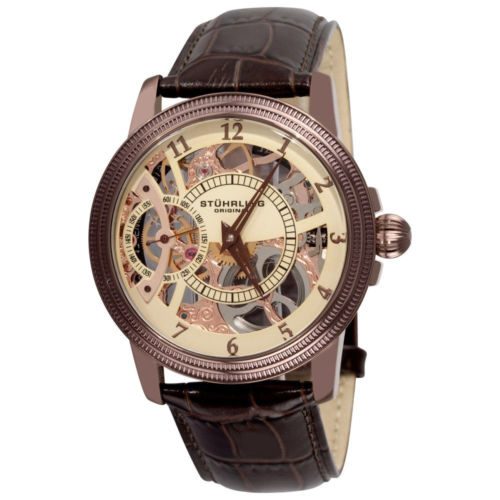 Stuhrling Brumalia Mechanical Bronze Stainless Steel Men's Watch