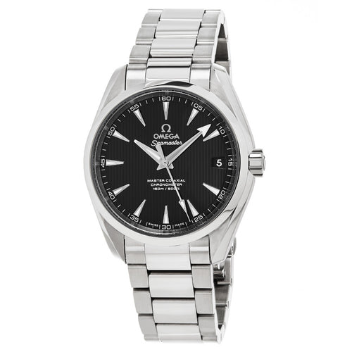 Omega Men's Seamaster AquaTerra 150M Omega Master Co-Axial Black Dial Automatic Watch