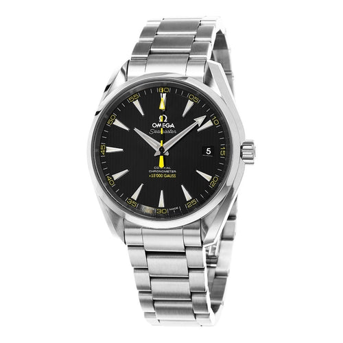 Omega Men's Seamaster AquaTerra 150M Omega Yellow Second Hands Automatic Watch