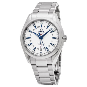 Omega Men's Seamaster AquaTerra 150M White Dial GMT Automatic Watch