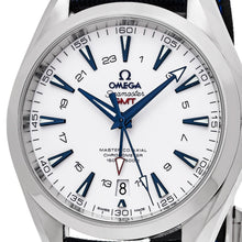 Load image into Gallery viewer, Omega Men's Seamaster Aqua Terra 150M Blue Fabric Strap GMT Automatic Watch
