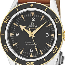 Load image into Gallery viewer, Omega Men's Seamaster 300M Leather Strap Automatic Watch
