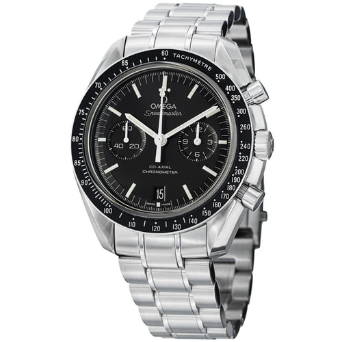 Omega Men's Speedmaster Moonwatch Black Dial Stainless Steel Watch