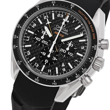 Load image into Gallery viewer, Omega Men's Speedmaster HB-SIA Solar GMT Chronograph Black Rubber Strap Watch