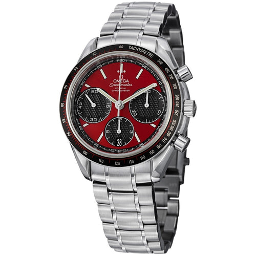 Omega Men's Speedmaster Racing Red Dial Chronograph Watch
