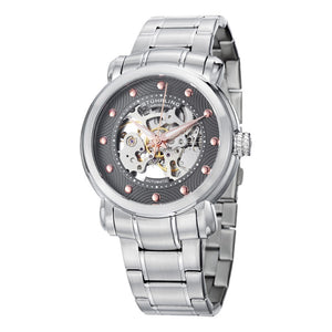 Stuhrling 644 Automatic Grey Dial Silver Stainless Steel Men's Watch