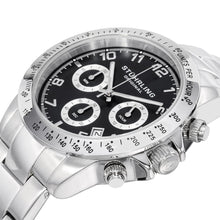 Load image into Gallery viewer, Stuhrling Concorso 665B Quartz Chronograph Black Dial Men's Watch