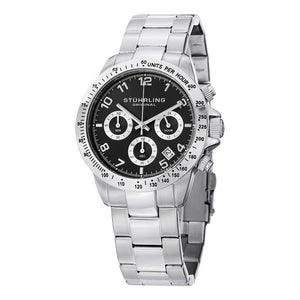 Stuhrling Concorso 665B Quartz Chronograph Black Dial Men's Watch