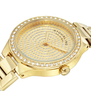 Stuhrling Symphony 683 Swiss Quartz Dial Gold Tone Women's Watch
