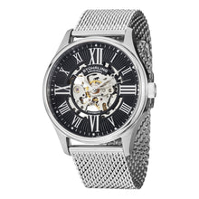 Load image into Gallery viewer, Stuhrling Atrium Elite Automatic Black Skeletonized Dial Mesh Bracelet Men's Watch