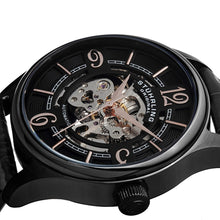 Load image into Gallery viewer, Stuhrling Delphi 992 Automatic Black Case Black Leather Strap Men's Watch
