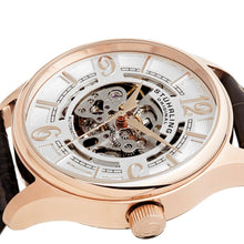 Load image into Gallery viewer, Stuhrling Delphi 992 Automatic Rose Tone Case Brown Leather Strap Men's Watch