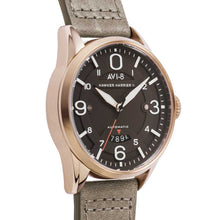 Load image into Gallery viewer, AVI-8 Hawker Harrier II Automatic Brown Leather Strap Men's Watch