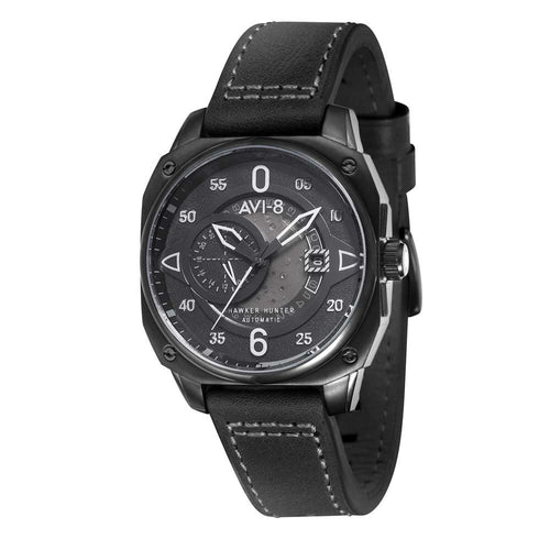 AVI-8 Hawker Hunter Automatic Black Dial Men's Watch