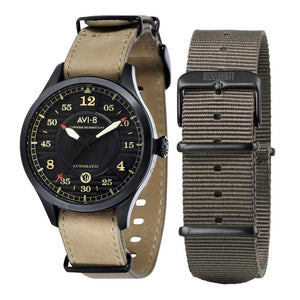 AVI-8 Hawker Hurricane Automatic Black Men's Watch