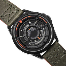 Load image into Gallery viewer, AVI-8 Hawker Harrier II Automatic Green Leather Strap Men's Watch