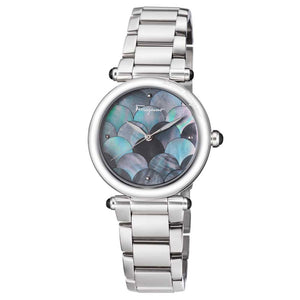 Ferragamo Women's Idillio Grey MOP Dial Watch SKU
