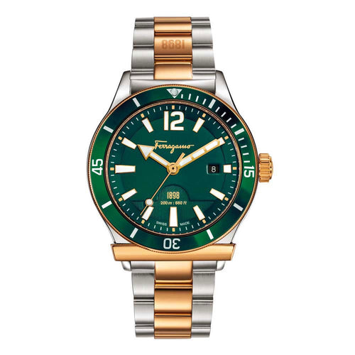 Ferragamo Men's Ferragamo 1898 Sport Olive Green Dial Watch