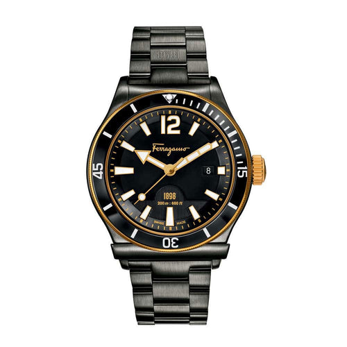 Ferragamo Men's Ferragamo 1898 Sport Black Dial Watch