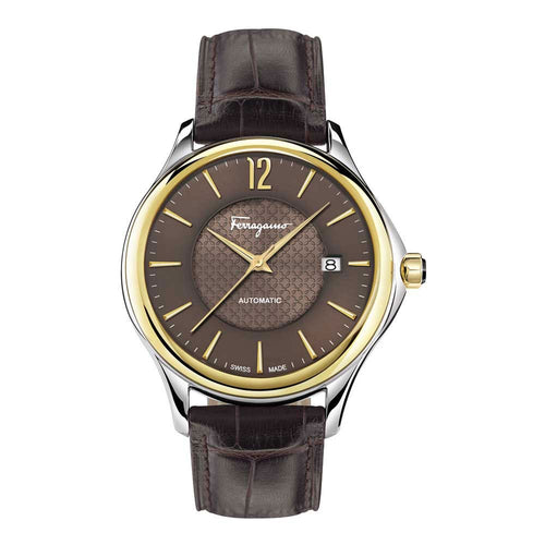 Ferragamo Men's Ferragamo Time Brown Dial Automatic Watch