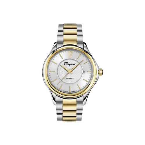 Ferragamo Men's Ferragamo Time Silver Dial Automatic Watch