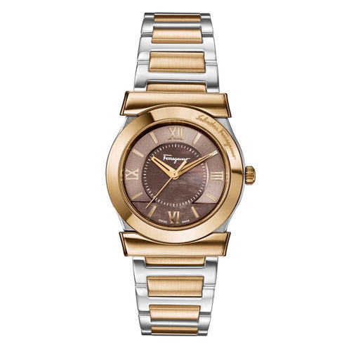 Ferragamo Women's Vega Brown Dial Watch