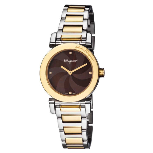 Ferragamo Women's Salvatore Lady Brown Mother of Pearl Dial Watch