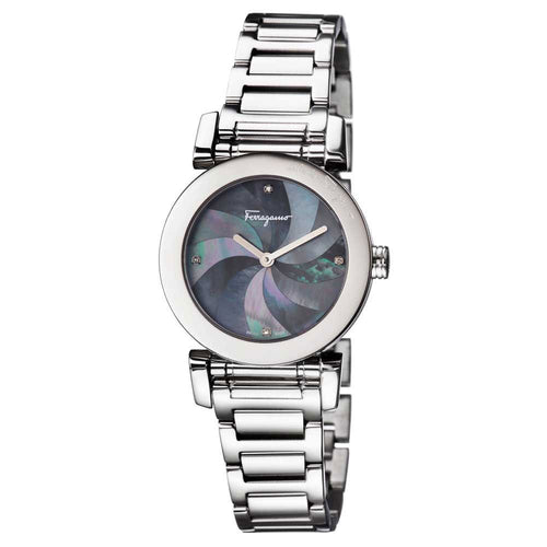 Ferragamo Women's Salvatore Lady Black Mother of Pearl Dial Watch
