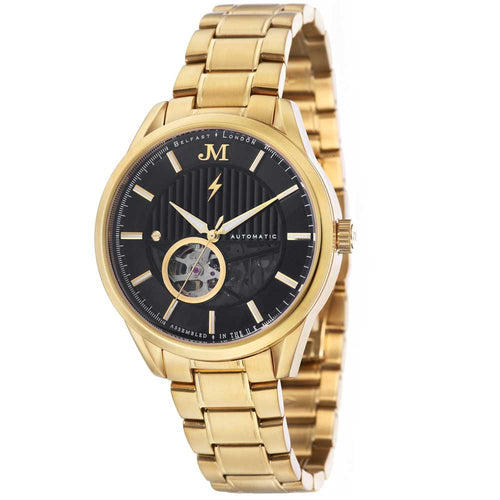 James-McCabe Belfast Automatic Gold Tone Bracelet Men's Watch