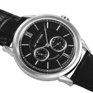 James-McCabe Heritage Automatic II Black Dial Multi-Function Men's Watch