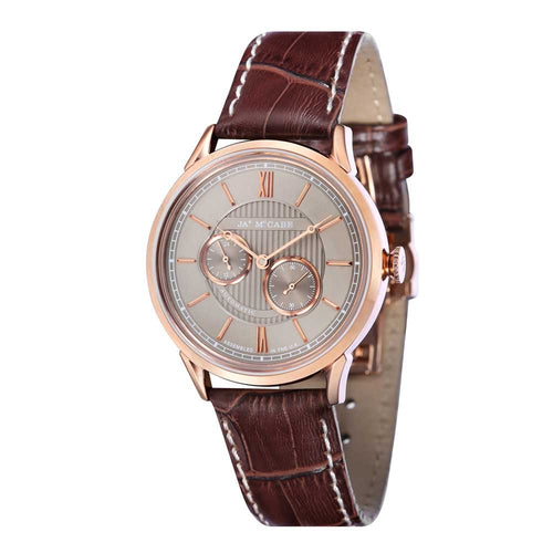 James-McCabe Heritage Automatic II Grey Dial Multi-Function Men's Watch