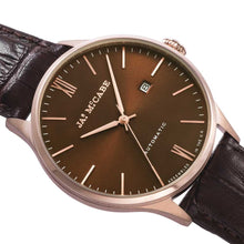 Load image into Gallery viewer, James-McCabe London Automatic Brown Dial Rose Gold Tone Men's Watch
