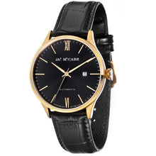 Load image into Gallery viewer, James-McCabe London Automatic Black Dial Gold Tone Men's Watch