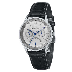 James-McCabe Heritage Retrograde II Silver White Dial Men's Watch