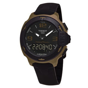 Tissot T-Race Touch Aluminium Black Dial Black Silicone Strap Men's Sports Quartz Watch