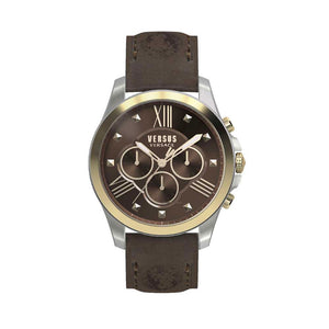 Versus-Versace Men's Chrono Lion Brown Dial Leather Strap Watch
