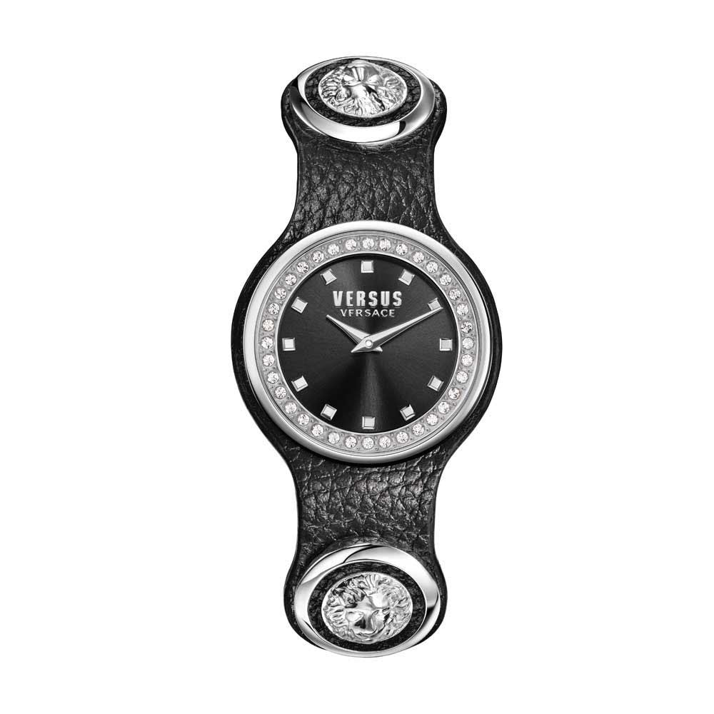 Versus-Versace Women's Carnaby Street Crystal Black Dial Watch